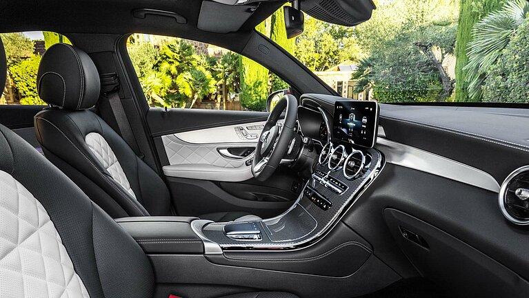 Das Interieur des Mercedes-Benz GLC Coupés