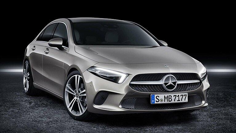 Das Exterieur der Mercedes-Benz A-Klasse Limousine