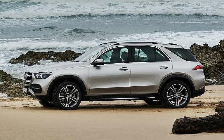 Der Mercedes-Benz GLE am Strand