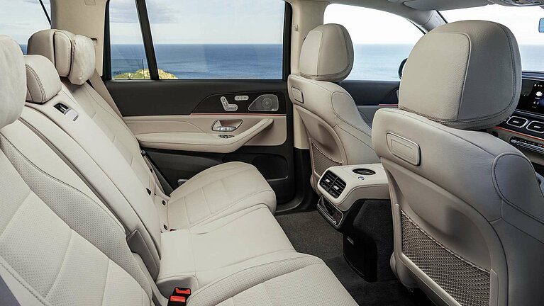 Die Sitze im Fond des Mercedes-Benz GLS