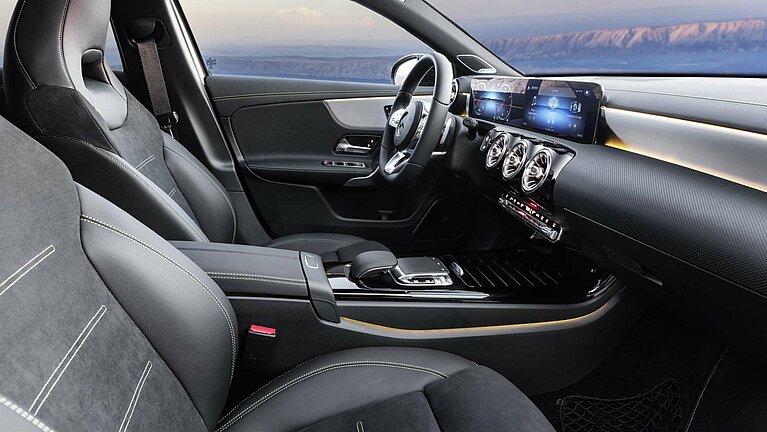 Das Interieur der Mercedes-Benz A-Klasse Edition 1