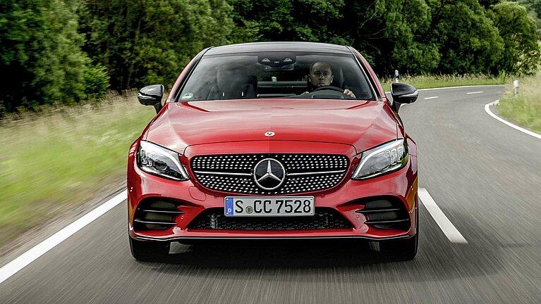 Das Mercedes-Benz C-Klasse Coupé von vorne