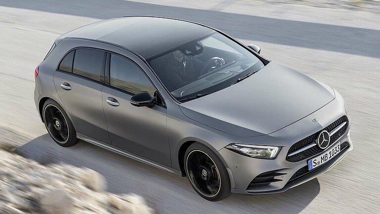 Aufsicht auf die Mercedes-Benz A-Klasse Edition 1