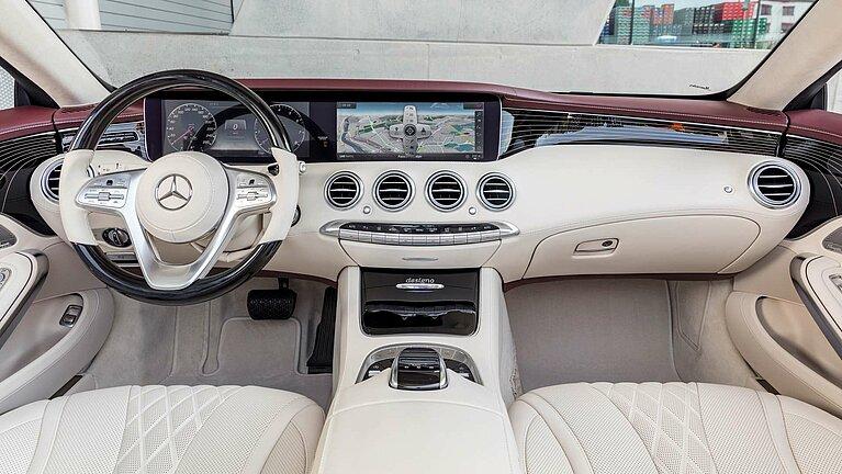 Das Interieur des Mercedes-Benz S-Klasse Cabriolet