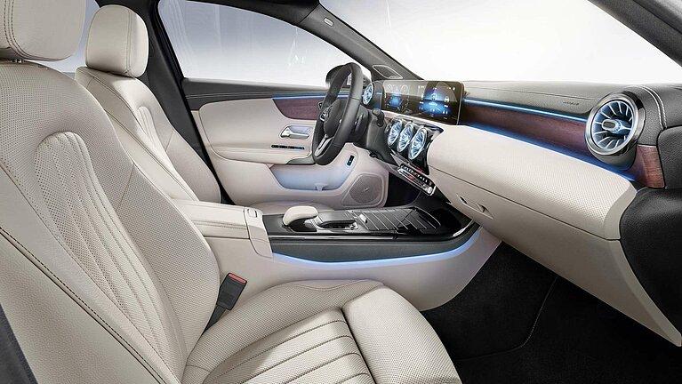 Das Interieur der Mercedes-Benz A-Klasse Limousine