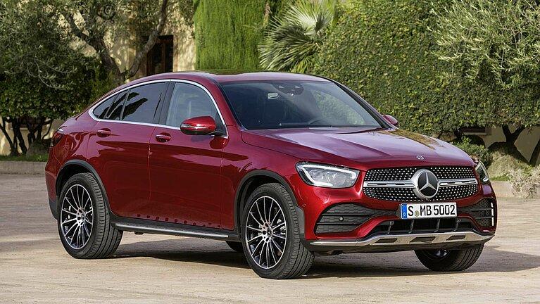 Das Exterieur des Mercedes-Benz GLC Coupés