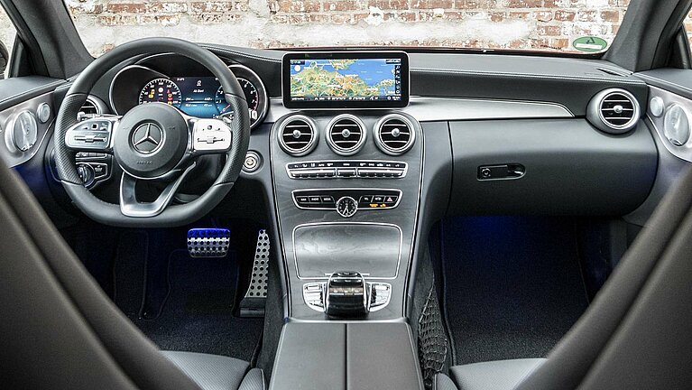 Das Interieur des Mercedes-Benz C-Klasse Coupé