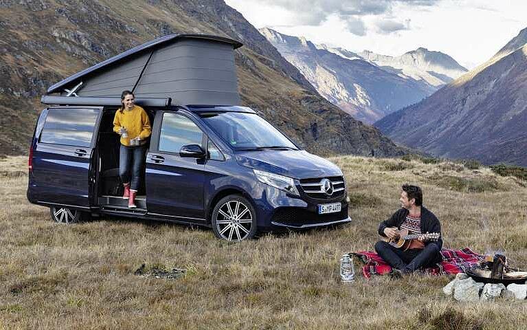 Camping in der Natur mit dem Mercedes-Benz Marco Polo