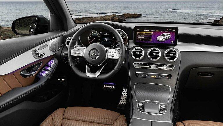 Das Interieur des Mercedes-Benz GLC mit MBUX