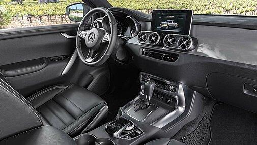Das Interior des Mercedes-Benz X-Klasse der Ausstattungslinie POWER