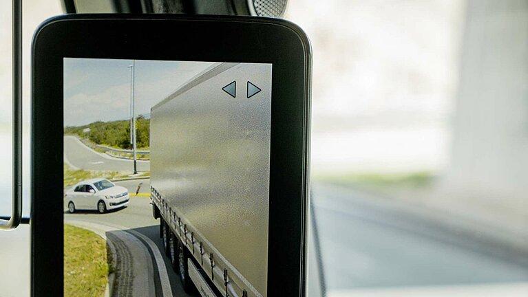Die MirrorCam des Mercedes-Benz Actros
