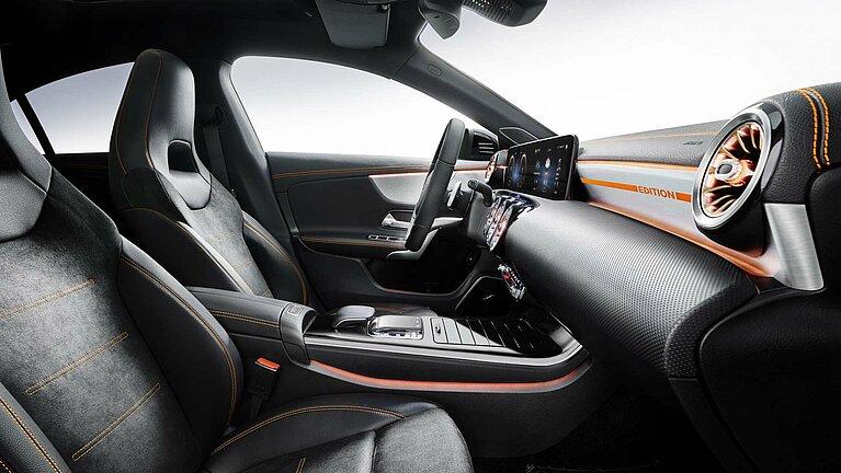 Das Interieur des Mercedes-Benz CLA Coupé