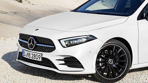 Die seitliche Front der Mercedes-Benz A-Klasse im Detail