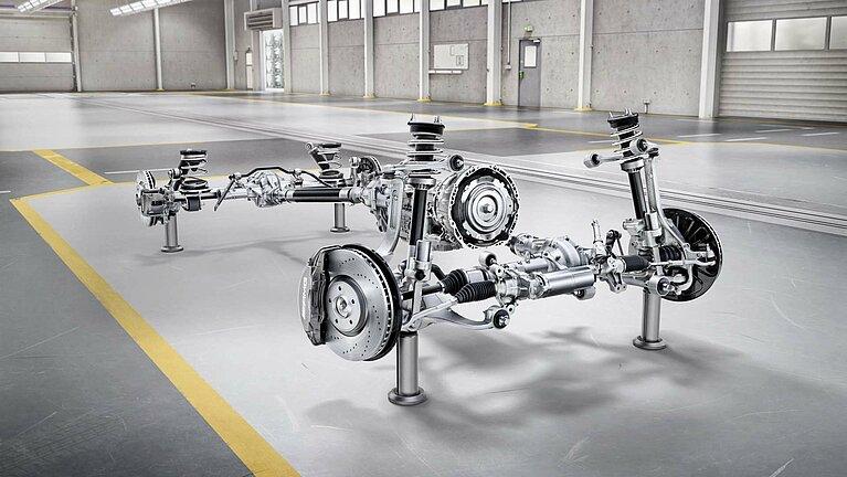 Das Fahrwerk der Mercedes-Benz G-Klasse