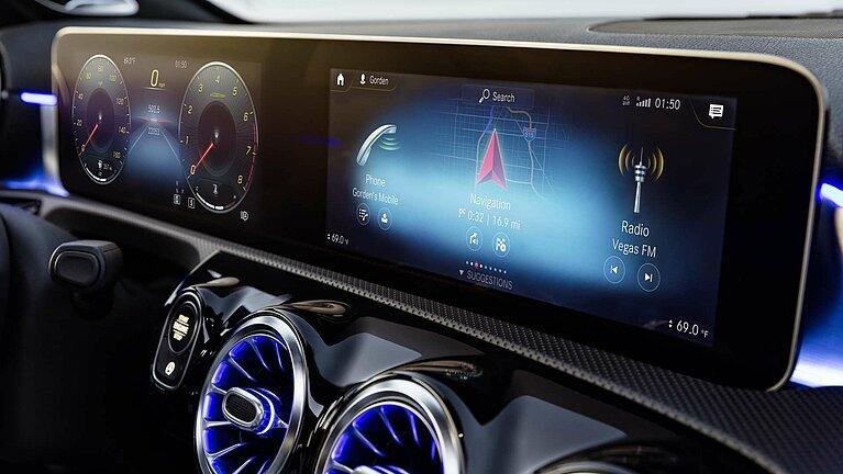 Das MBUX Multimediasystem der Mercedes-Benz A-Klasse