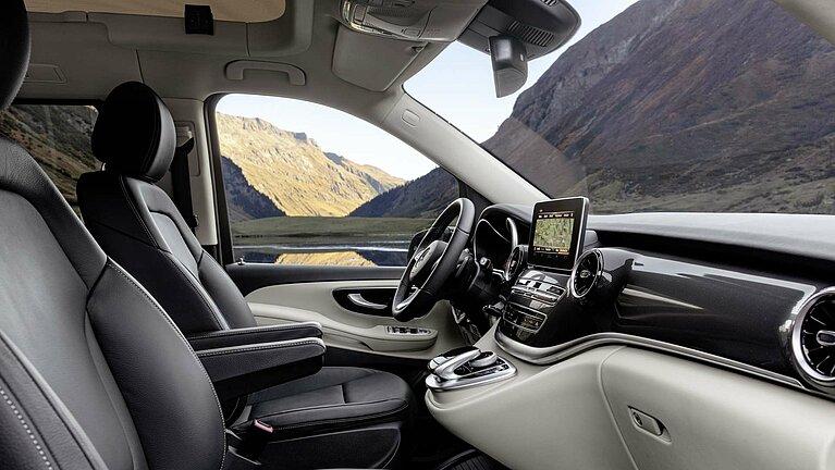 Das Interieur des Mercedes-Benz Marco Polo