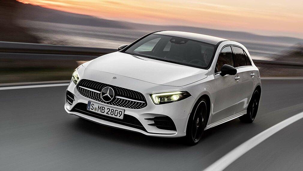 Die Mercedes-Benz A-Klasse in voller Fahrt