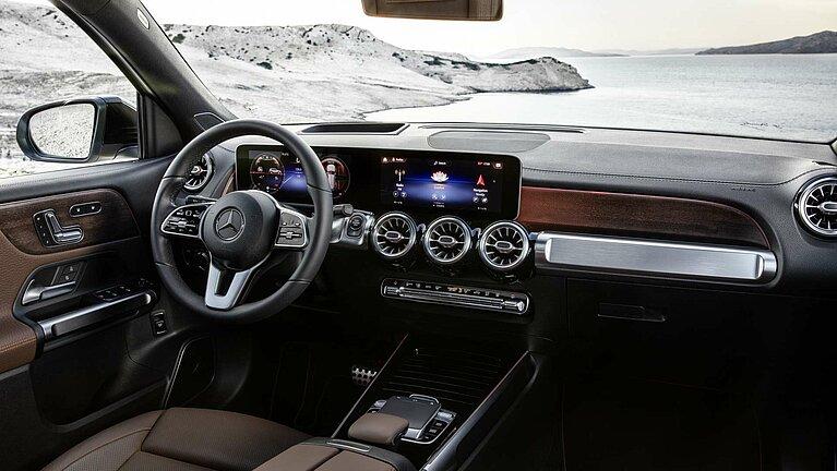 Das Cockpit des Mercedes-Benz GLB