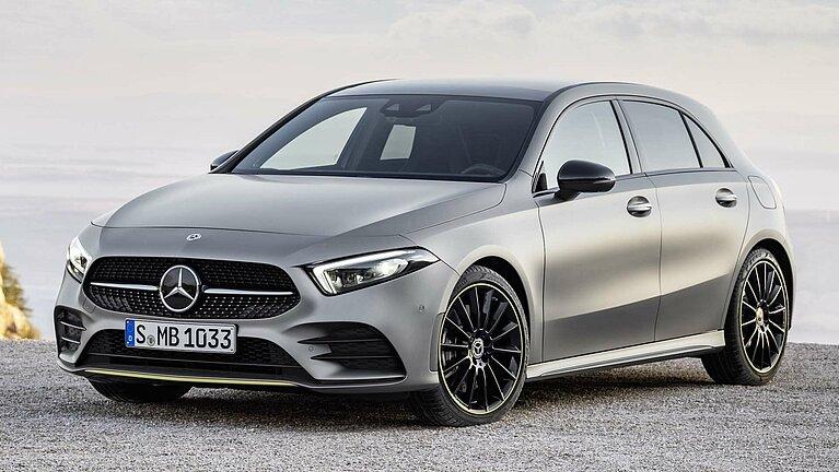Das Exterieur der Mercedes-Benz A-Klasse Edition 1 von schräg vorne
