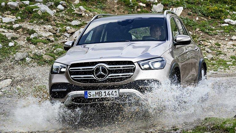 Der Mercedes-Benz GLE im Gelände