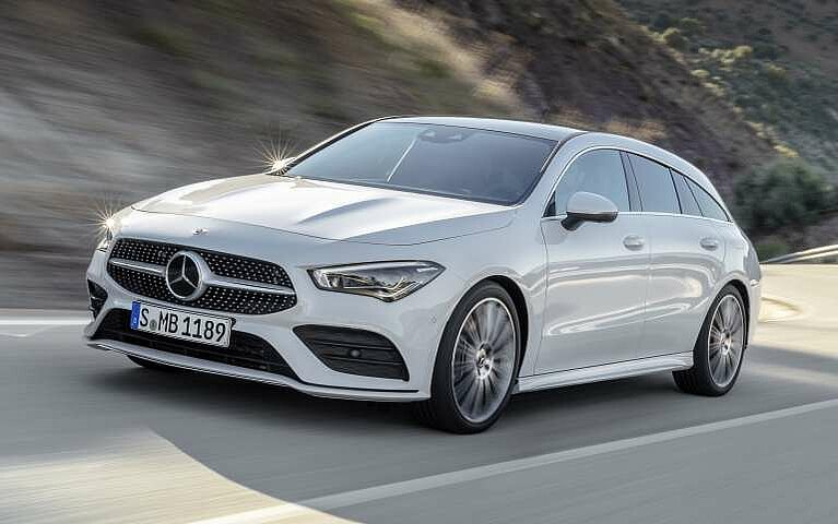 Frontansicht des Mercedes-Benz CLA Shooting Brake