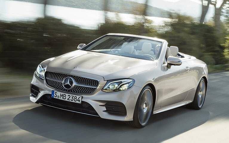 Frontansicht des Mercedes-Benz E-Klasse Cabriolet