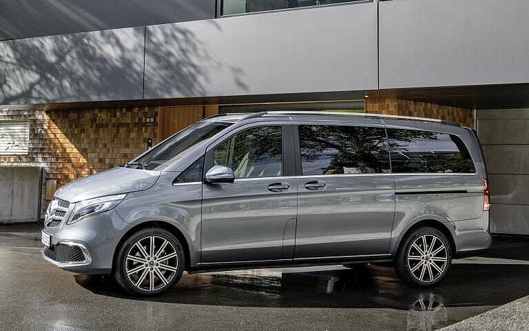 Die Mercedes-Benz V-Klasse in der Seitansicht