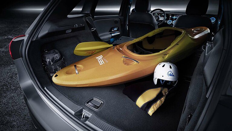 Der Kofferraum der Mercedes-Benz B-Klasse