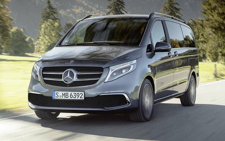 Die Mercedes-Benz V-Klasse in der Frontansicht