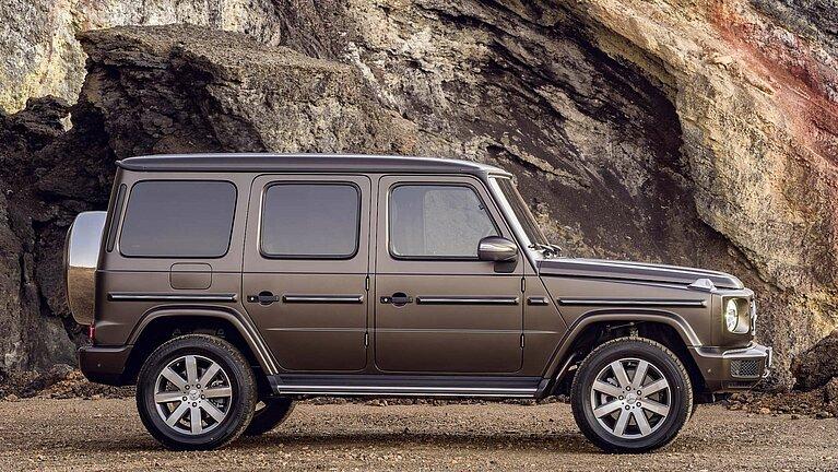 Die Mercedes-Benz G-Klasse von der Seite