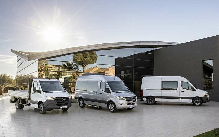 Drei Variationen des Mercedes-Benz Sprinter